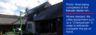 karuah-motor-inn-roof-restoration-cherry-picker
